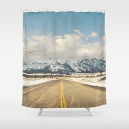 To the Tetons Shower Curtain