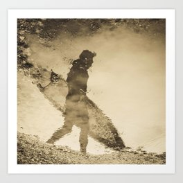 Surfers reflection Art Print