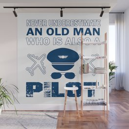 Old Man - A Pilot Wall Mural