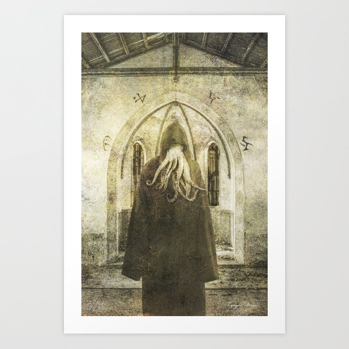 Dark Victorian Portrait: The Pious Art Print