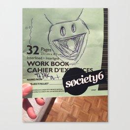 Society 6 Workbook Canvas Print