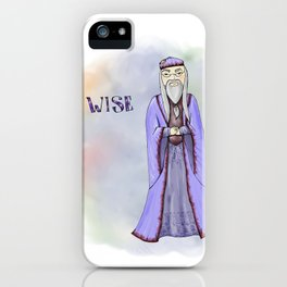 Wise Dumbledore iPhone Case