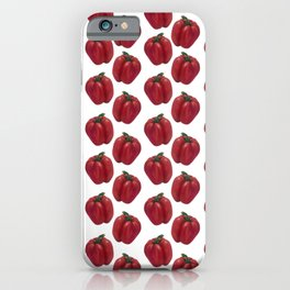 Red Bell Pepper pattern iPhone Case