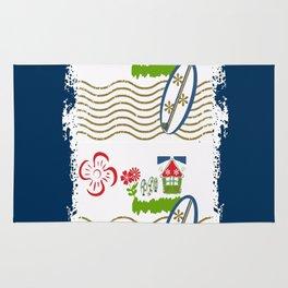 Surfer Stripes -navy Rug