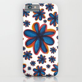 Vibrant Blue Flowers iPhone Case