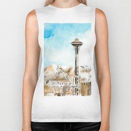 Seattle space needle Biker Tank