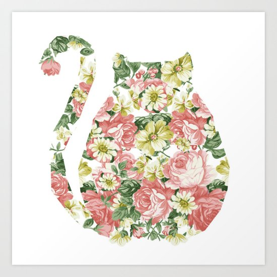 Garden Cat Art Print