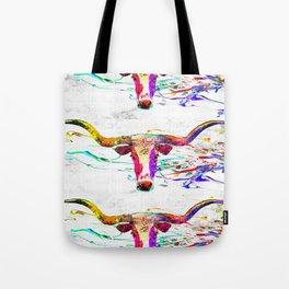 Longhorn Grunge Tote Bag