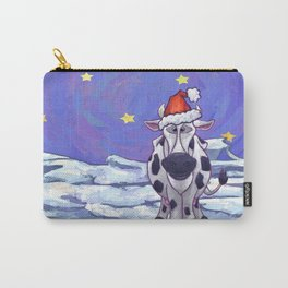 Cow Christmas Carry-All Pouch