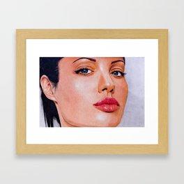 Angel(ina) Framed Art Print