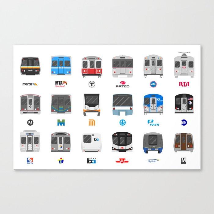 Subway Icons Leinwanddruck