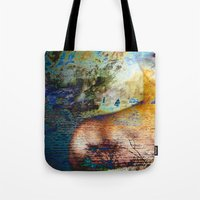 elephants Tote Bags featuring Elephants by Stephen Linhart