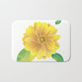 Helianthus - The Color of Vitality, Intelligence and Happiness Bath Mat
