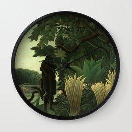 "Henri Rousseau ""The Snake Charmer"", 1907 Wall Clock"