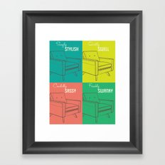 Chairs Framed Art Print