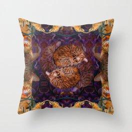 Theadora the Explorer Dreams of Flora Throw Pillow