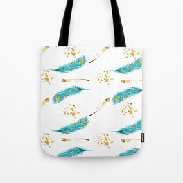 Peacocks a sparkle Tote Bag