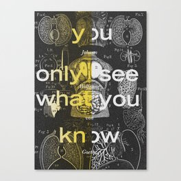 you only see what you know Canvas Print