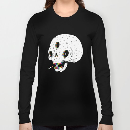 Drippy Space Skull Long Sleeve T-shirt