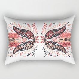 Hamsa Hand – Red & Black Palette Rectangular Pillow