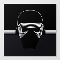 the new villain's helmet, kylo ren Canvas Print