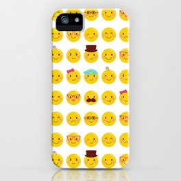 Cheeky Emoji Faces iPhone Case