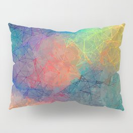 Reflecting Multi Colorful Abstract Prisms Design Pillow Sham