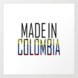 Made In Colombia Art Print