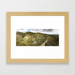 Panorama of Carrizo Plain Framed Art Print