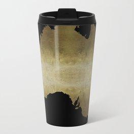 australia map gold foil black background Travel Mug