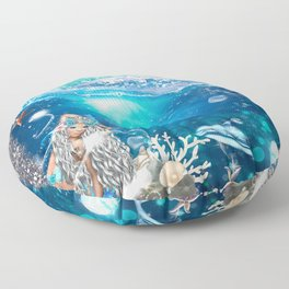 Enchanted Mermaid Sea Floor Pillow
