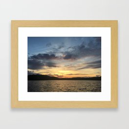 Adirondack Lake Sunset Framed Art Print