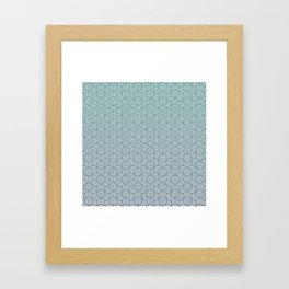 Tessellation - Culture Clash - Polytone Teal / Indigo Framed Art Print