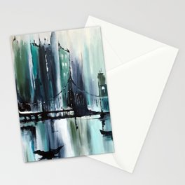 Blue Cityscape Stationery Cards