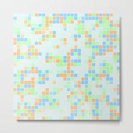 Colored Pool Squares Metal Print