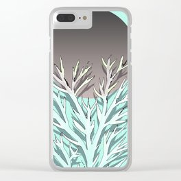 Tree and the moon Clear iPhone Case