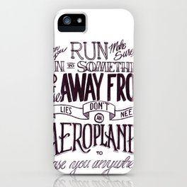 Weight of Lies iPhone Case