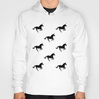 unicorns Hoodies featuring Unicorns by Fabian Bross
