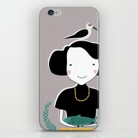 abigail larson iPhone & iPod Skins featuring Abigail by June Keser