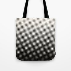 White & Black Halftone Tote Bag