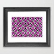 Ninja Star Pattern Framed Art Print