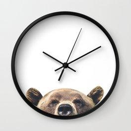 Bear - White Wall Clock