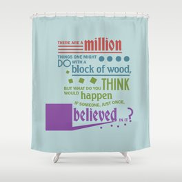 Block of Wood Shower Curtain