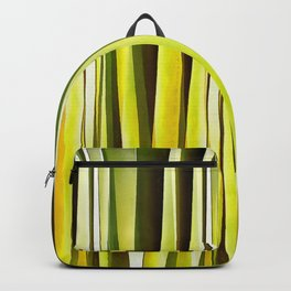 Yellow Ochre and Brown Stripy Lines Pattern Backpack