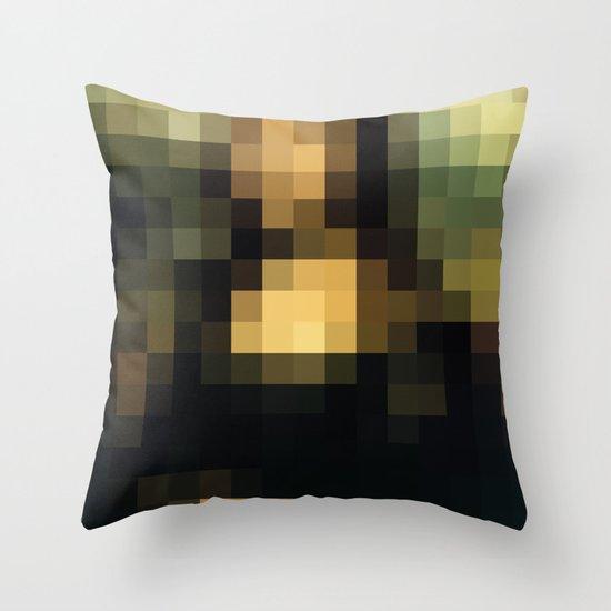 PIXELEON-Monalisa Throw Pillow