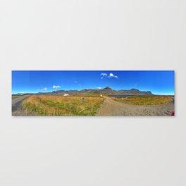 Roadside Vew of Snæfellsjökull Glacier in West Iceland (1) Canvas Print