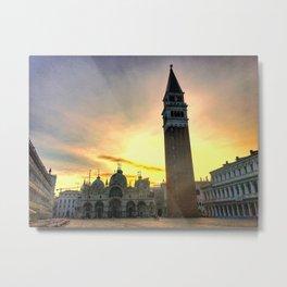 Piazza San Marco at Sunrise Metal Print