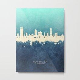 New Haven Connecticut Skyline Metal Print