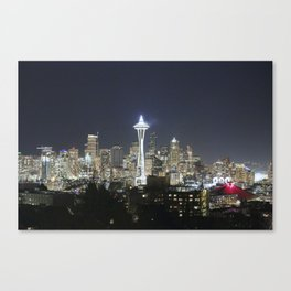 Holiday Season in Seattle Canvas Print
