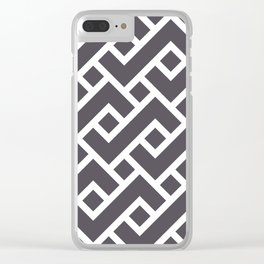 Monochrome Intricate Pattern Gamma Clear iPhone Case